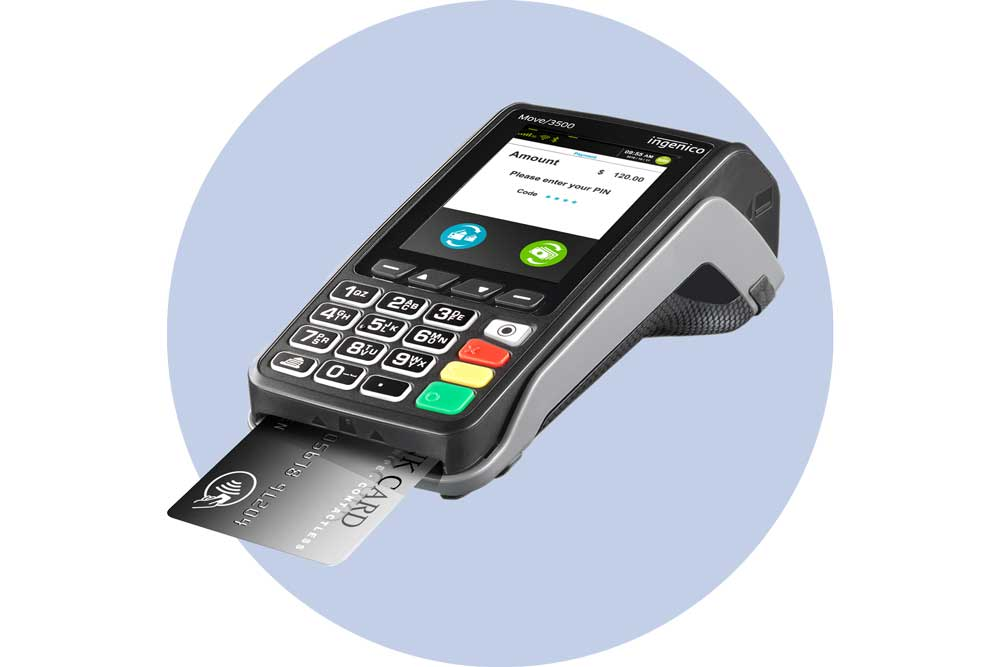Mobile card machine