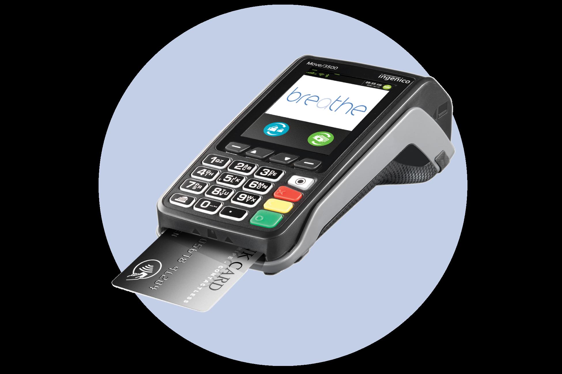 mobile card machine move 3500